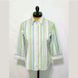 J. Crew Striped Button Front Shirt